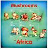 Gambia 2000 MNH Mushrooms of Africa 6v M/S II Volvar Cort Bolete Fungi Stamps