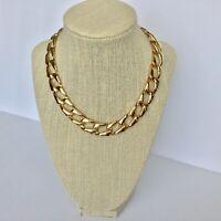 Napier gold tone necklace geometric links Vintage