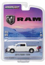 Greenlight 2015 Dodge Ram Pick Up Truck Snow Plow & Salt Spreader 1:64 29863