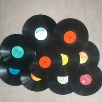 Job lot of 10 x 12 Inch LP Vinyl Records for Craft, Upcycling and Arts Projects