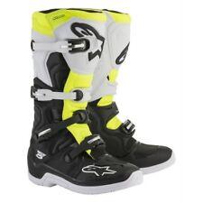 Alpinestars Tech 5 Motocross Boot Black White Flo Yellow New W/ Tags Mens Size 9