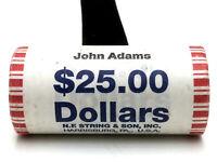 2007 US Mint John Adams Presidential Dollar Coin Roll $25 FV - Sealed