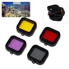 4PCS Diving Photo Filter Red/Yellow/Purple/Grey Lens For GoPro Hero 4 Hero3+