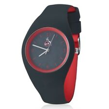1. FC Köln Uhr Silikon Armbanduhr Grau/rot