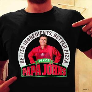 Papa Johns Better Ingredients Better Pizza Black T Shirt