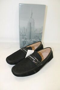 New Men's BRUNO MARC Black Santoni Penny Loafers Shoes UK 7 SA5