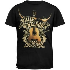 Willie Nelson T Shirt Texan Pride Official Long Sleeve Charcoal Grey Unisex Size