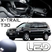 Nissan X TRAIL T30 7 Ampoules LED Blanc intérieur plafonnier Miroirs Coffre