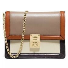 NWT Coach ColorBlock Hutton Taupe Ginger Multi/Gold Belt Bag