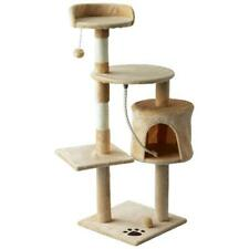 """45"""" Plush Sturdy Interactive Cat Condo Tower Scratching Post Activity Tree Hous"""