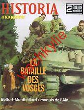 Historia magazine ww2 82 Bataille des Vosges Belfort Maquis de l'Ain Montbéliard