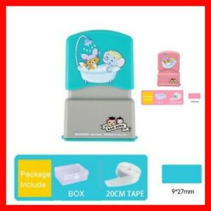 Customized Name Stamp Self Ink Rubber Child Baby Paints Clothing Seal Cartoon