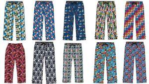 Men Character Lounge Pants Pyjama Bottoms 100% Cotton Marvel Comics Loungewear