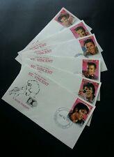 St. Vincent 1992 Singer Artist Famous (stamp FDC 6's complete set)