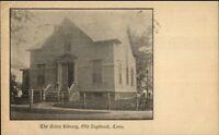 Old Saybrook CT Acton Library c1905 Lounsbury Backside - Postcard