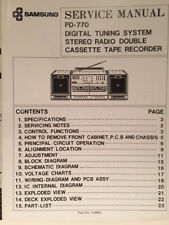 Samsung PD-770 ORIGINAL FACTORY SERVICE MANUAL portable stereo