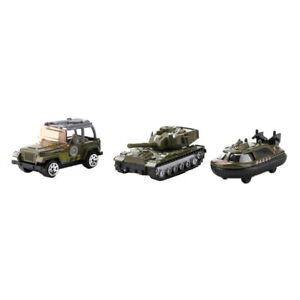 3pcs   Jeep Car Police Car Submarine Toy Soldiers   Model ACCS
