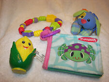 Baby toys  01 bright stars teethers  cloth book puppy rattler  4 toys