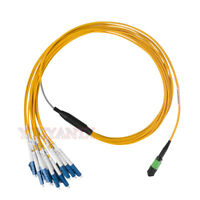 3 Meter MPO/MTP to 12XLC Type B Breakout Fiber Optic Cable SM Fiber Patch Cord