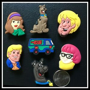 7 Shoe Charms for Crocs SCOOBY DOO Mystery Machine Fred Daphne Velma Shaggy
