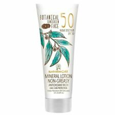 Australian Gold Botanical Sunscreen Tinted Face Mineral Lotion SPF 50, 3 Ounce