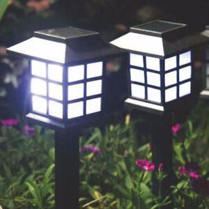 2pcs Waterproof Solar Power LED Palace Light Garden Yard Landscape Path Way Lamp