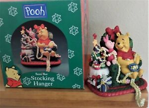 1998 Xmas Stocking Hanger - Disney's Winnie the Pooh & Piglet - Popcorn Garland