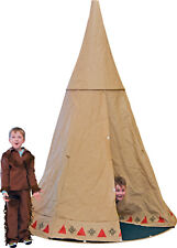 EDUPLAY Kinder INDIANER TIPI  Zelt rund Ø  200 cm x 280 cm hoch NEU