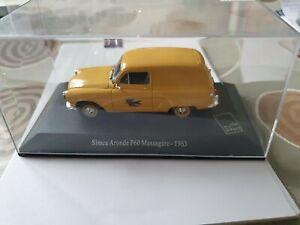 1/43 ATLAS Voiture Miniature SIMCA Aronde P60 Messagère 1963 La Poste
