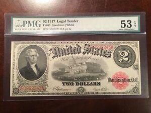 PMG 53EPQ FR#60 1917 $2 LEGAL TENDER  VERY NICE AND CRISP