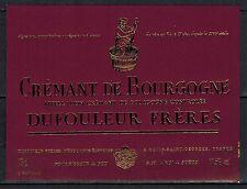 Etiquette - Vin - Alcool - Cremant de Bourgogne - Dufouleur Freres - Réf.n°196