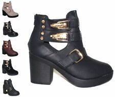 Buckle Mid Heel (1.5-3 in.) Ankle Boots for Women