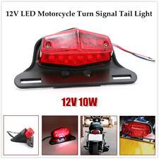 12V LED Motorcycle Turn Signal Tail Light Fender Edge License Plate Lamp Bracket