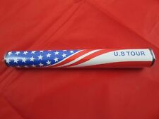U S Tour Oversize Jumbo Single Putter Grip 3.0 USA Red White Blue Patriotic Golf