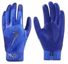 Nike MVP Elite 2.0 Pro Batting Gloves Blue Chrome Size Large