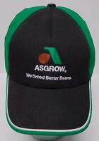 ASGROW We Breed Better Beans Agriculture SOYBEAN Advertising HAT CAP Made in USA