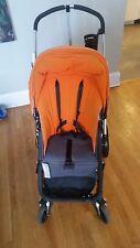 Bugaboo Cameleon Orange single seat stroller. inc. accessories