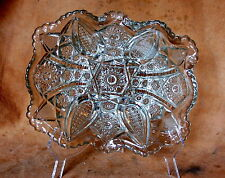 Antique PANELED DAISY & FINECUT Center piece/ fruit bowl EAPG Pattern Glass