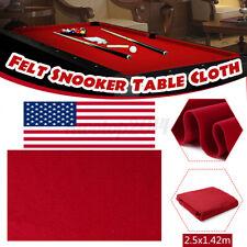 US Red 2.5x1.42m Professional Billiard Cloth Felt Mat Cover Table Billiard Pool
