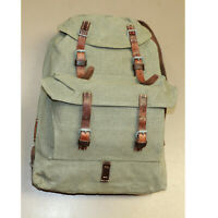Swiss Vintage 1958-Schneide Salt/Pepper Leather/Canvas Youth Rucksack Backpack