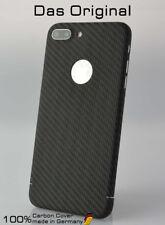 Carbon Cover mit Logo Window Apple iPhone 8 Plus - Das Original Case