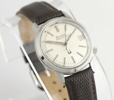 Bulova Accutron N6 Watch Vintage Stainless Tuning Fork Mens Unisex Leather Band