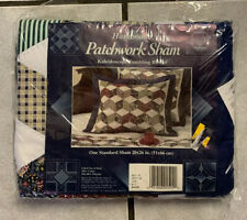 "Handmade Patchwork New Pillow Sham 20' x 26"" Kaleidoscope Tumbling Block 1995"