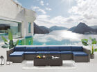 Rattan Garden Furniture Sofa Set Outdoor Conservatory Patio Lounge Dining Brown