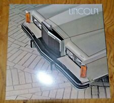 Sales Brochure for  1982 Lincoln Town Car; Near Mint Condition