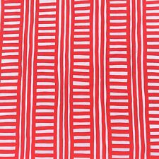 Cotton Drill Sewing Fabric Red White Geometric Crafts Furnishing