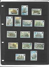 FALKLAND ISLANDS 1989 CAPE HORN SAILING SHIPS SET TO £3 {No £5} SG.567-581  MNH