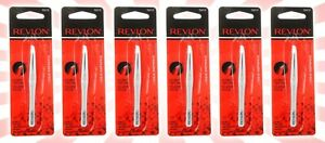 6 Revlon Slant Tweezer Original 32610