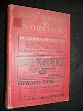 Kelly's Directory of Norfolk 1937 inc Map - Genealogy, Local History, Reference