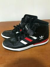 MENS RARE ADIDAS ORIGINALS FORUM MID REFINED black/red  UK10.5 EVM 004001